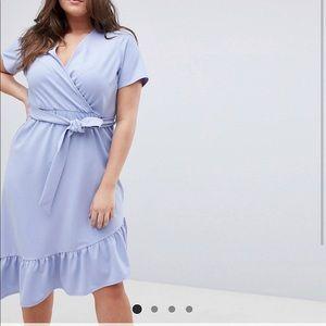 ASOS curve pastel dress